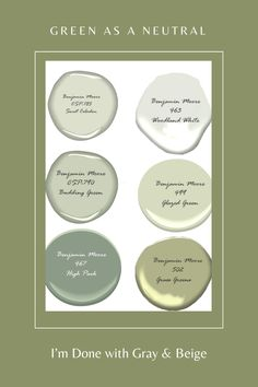 Are you done with gray and beige? Bored with taupe? Consider using green as a neutral in your home. Click to read more #green #neutralcolorpalettes #colorscheme #homecolors #interiordesign #interiordecorating #color #colorpalette #colorpaletteideas #colorscheme #colorschemeideas #interiorcolorpalette #interiorcolorschemes #interiorcolorpaletteideas #interiorcolorschemeideas Green Paint Colors, Best Paint Colors, Room Paint Colors, Interior Paint Colors, Paint Colors For Living Room, Paint Colors For Home, Green Room Colors, House Paint Interior, House Color Palettes