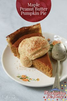 Pumpkin Pie with Maple Peanut Butter Whipped Cream - Not every pumpkin ...