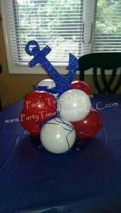 Baby shower boy centerpiece nautical 66 Super Ideas Baby shower boy centerpiece nautical 66 Super Id Anchor Centerpiece, Balloon Centerpieces, Baby Shower Centerpieces, Balloon Decorations, Centerpiece Ideas, Baby Shower Decorations For Boys, Baby Shower Themes, Baby Boy Shower, Sailor Baby Showers