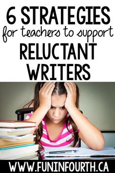 If you have reluctant writers in your classroom, you'll want to check out this blog post about how you can engage your students and 6 strategies you can use to find success with any reluctant writer. Don't miss it! #FunInFourth #WritingActivities #WritingStrategies