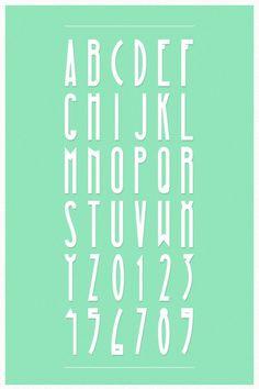 """Magna Typeface Creada a finales del 2012, es inspirada en un estilo """"Vintage"""". La tipografía cuenta con todas las letras y números en sus caracteres."""