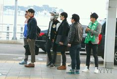 2PM @ Incheon airport -140221- (cr: as tagged)
