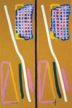 "Bernard Piffaretti Untitled , 2001, acrylic on canvas , 59 × 39 3/8"""