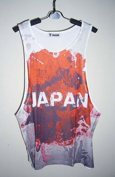 Japan Flag Tank Top Men Tshirt Summer Gifts for Friend Flag Shirt Men Tank Shirt