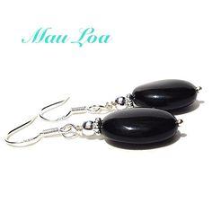 Black onyx earrings  all sterling silver  fine by MauLoaJewelry, $28.00