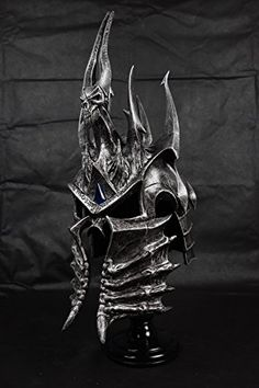 Buy Lager Toys World of Warcraft WOW Lich King Death Knights 1/1 Helmet Mask  **    World of Warcraft Lich King Death Knights 1/1 Size** **    100% hand made High quality!!** **    Material: Resin, Polyster Weight: 4KG** **    Head circumference:58cm** **    Including the stand**  Buy From Amazon http://www.amazon.com/gp/product/B00VTVGPUI?tag=canreb0c-20