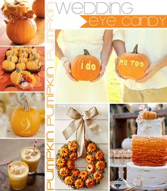 grey yellow pumpkin wedding - Google Search
