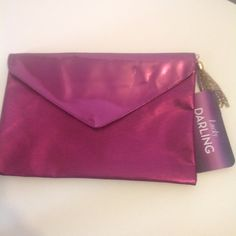 Lucky Brand Envelope Clutch Adorable Envelope Clutch with Gold tone tassel and zipper closure 12X8 Lucky Brand Bags Clutches & Wristlets