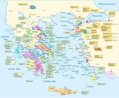 Map showing the homeland of every character in Homer's Iliad.