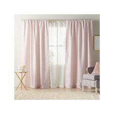 LC Lauren Conrad Twilight Room Darkening Lined Curtain, Pink