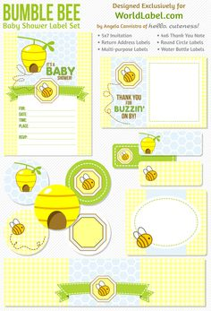 Bumble Bee Baby Shower Free Printables