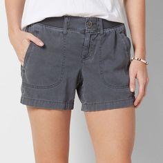 Women's SONOMA Goods for Life™ Comfort Waist Color Shorts, Size: 4, Dark Grey