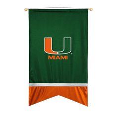 Miami Hurricanes Sidelines Ribbon Style Wall Flag