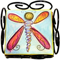 Dragonfly Coaster Set by Double Creek Pottery   Sticks Furniture, Home Decorative Accents