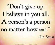 Dr. Seuss Don't give up quote via www.TheRabbitHoleRunsDeep.Blog.com