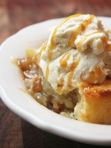 Caramel Pear and Walnut Skillet Cobbler Recipe | With Caramel Whipped Cream | Proven Recipes with Pictures