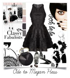"""""""The Little Black Dress (LBD) Ode To Megan Hess!"""" by traceysfashionoutlook ❤ liked on Polyvore featuring Alice + Olivia, 3.1 Phillip Lim, Naughty Monkey and Kevin Charles LDN"""