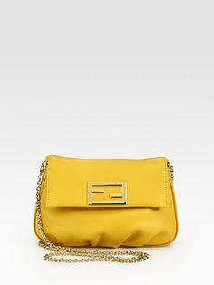 Fendi - Leather Pouchette - Saks.com