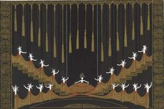 Erté´ (Romain de Tirtoff – Russian, St. Petersburg 1892-1990 Paris), L'Or for the Ziegfeld Follies, 1923, Gouache and metallic paint on paper, Signed at lower right, Erté; inscribed in verso, No. 644 Decor L'Or 1923, and stamped with the artist's name, Gift of Mrs. Donald M. Oenslager, 1982; acc. no. 1982.75:204, Photography by Schecter Lee, 2009.