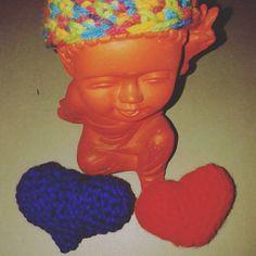 Los corazones del niño Buda #Crochet #corazon #heartcrochet