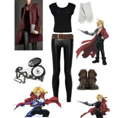 Casual cosplay of Edward Elric (from Fullmetal Alchemist anime series)-- character inspired outfit Casual Cosplay, Cosplay Outfits, Anime Outfits, Cosplay Costumes, Easy Cosplay, Anime Inspired Outfits, Character Inspired Outfits, Themed Outfits, Edward Elric