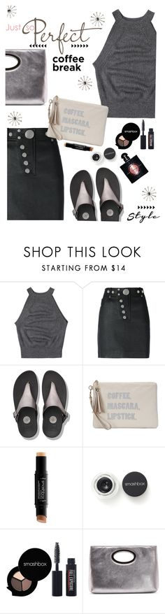 """""""Monday Coffee Run"""" by juliehooper ❤ liked on Polyvore featuring Alexander Wang, FitFlop, Bungalow 20, Smashbox, Donald J Pliner, polyvoreeditorial, pewter and coffeebreak"""