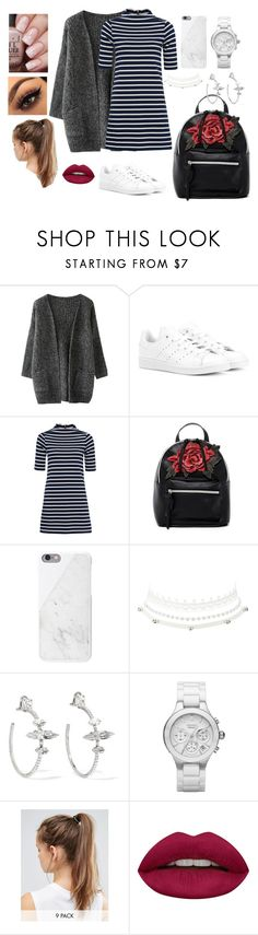 """Comfy September"" by joeannamarii on Polyvore featuring adidas Originals, French Connection, T-shirt & Jeans, Charlotte Russe, Miu Miu, NIKE and Huda Beauty"