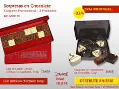 Está a un clique de enviar un Dulce regalo Original! Venga conocer nuestros Chocolates Belgas! http://www.mysweets4u.com