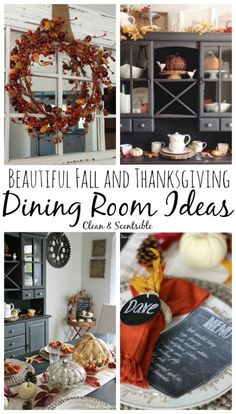 Beautiful+fall+and+Thanksgiving+tablescape+and+dining+room+ideas!+//+cleanandscentsible.com
