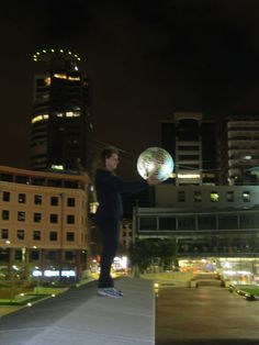 Playing in the city at night - Wellington NZ