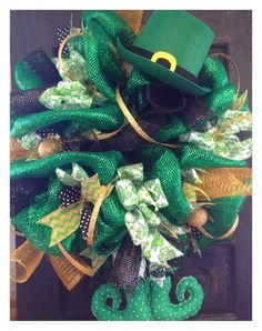 St Patrick's Day Wreath Patty FREE SHIPPING by HolidayDressings, $100.00