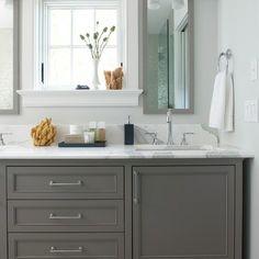 Bathroom cabinet color (boy's bath)