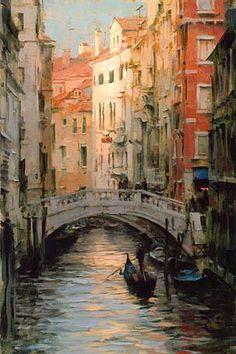 ART~ The Bridges Of Venice~ Painting by Dimitri Danish, Born Kharkiv, Ukraine 1966.
