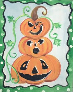 Easy canvas painting for beginners step by step. Learn how to paint a pumpkin topiary painting on canvas! Paint this and more fall canvas paintings! Pumpkin Canvas Painting, Halloween Canvas Paintings, Canvas Painting Designs, Canvas Painting Tutorials, Acrylic Painting For Beginners, Halloween Painting, Step By Step Painting, Beginner Painting, Summer Painting