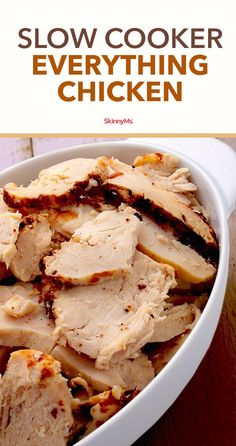 Having a pre-made batch of this Slow Cooker Everything Chicken in your kitchen i. - Having a pre-made batch of this Slow Cooker Everything Chicken in your kitchen is sure to make many - Slow Cooker Huhn, Crock Pot Slow Cooker, Slow Cooker Recipes, Gourmet Recipes, Crockpot Recipes, Chicken Recipes, Cooking Recipes, Easy Recipes, Dinner Recipes