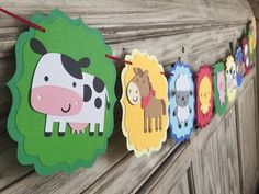Farm Banner Farm Birthday Farm Baby Shower by EricasCrafties Party Animals, Farm Animal Party, Farm Animal Birthday, Barnyard Party, Farm Birthday, Farm Animal Cupcakes, Farm Party Decorations, Birthday Decorations, Baby Shower Decorations