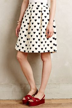 Petite Hearts Skirt #anthropologie - This needs to be added to my closet!