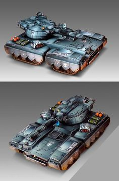 Heavy Gear Blitz - Visigoth Main Battle Tank - Southern Republic - Painted by Angel Giraldez