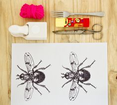 Craft project: pom-pom insects at BKIDS