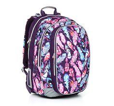 Plecak z piórkami - model CHI 796 H - Pink dla starszych dziewczyn do 6 klasy. Inspirowany muzyką, wiatrem we włosach i wolnością :)
