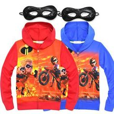 Sport Clothes Sweatshirts - Cartoon Baby Boys Clothes Girls The Incredibles 2 Hoodies Children TShirts+Eye Mask Set Kids Clothing Sweatshirts Sport Coats. Tutus For Girls, Kids Outfits Girls, Shirts For Girls, Baby Outfits Newborn, Baby Boy Outfits, Sport Outfits, Baby Halloween Outfits, Halloween Costumes, Baby Cartoon