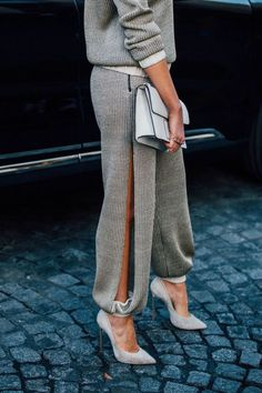 #StreetStyle #Sweatpants #HighHeels