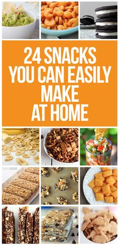 Make your favorite snacks at home with these recipes.