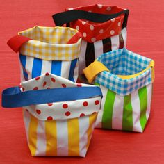 Colourful striped oilcloth pot with handle is a useful storage container for all your bits and pieces. Ideal for kids to carry their loose parts for inspiring creative play in early childhood. Handmade in Newcastle NSW with delivery Australia wide. Small Storage, Storage Ideas, Newcastle Nsw, Creative Play, Storage Containers, Early Childhood, Oilcloth, Handle, Buy Local