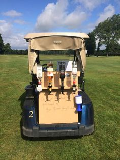 Heard drinking and driving is allowed in golf....but this takes it to next…