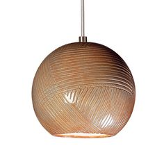 Round and textured, like a ball of string, our spherical Twine mini pendant features a criss-cross, swirling pattern of incised lines. Every pendant is handmade by talented artisans, so the overlapping combed pattern on each fixture is truly one-of- Mini Pendant Lights, Drum Pendant, Globe Pendant, Lantern Pendant, Pendant Lighting, Chandelier, Ceramic Light, Jar Lights, Swirl Pattern