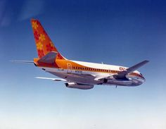 Aloha Airlines Boeing 737-284/Adv N70721 in an air-to-air promotional image taken around the time of its delivery, circa 1977. (Image: Government of Hawaii)