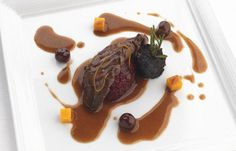 This pigeon breast recipe pairs its gamey taste with earthy beetroot. Bright citrus sauce and crème fraîche add to the flavours in Marcello Tully's pigeon recipe. Meat Recipes, Food Processor Recipes, Game Recipes, Dinner Recipes, Dessert Recipes, Salsa, Great British Chefs, Vegetable Puree, Atelier