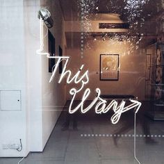 This Way | Neon Signs