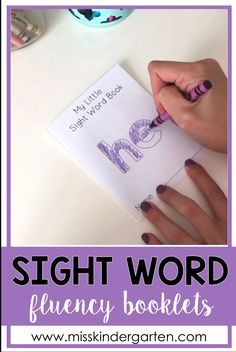 Sight Word Fluency Books are a fun way to have your struggling readers practice reading their sight words at home and in the classroom! These printable books can be used when teaching reading groups, in literacy centers, or even sent home as extra reading Preschool Sight Words, Teaching Sight Words, Sight Word Practice, Sight Word Activities, Preschool Learning Activities, Preschool At Home, Word Games, Teaching Reading, Reading Practice